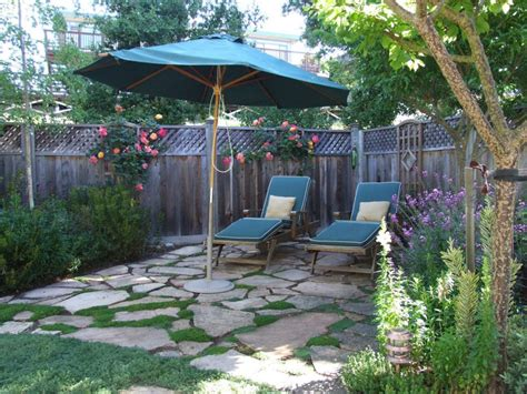 small patio  pavers elfin thyme