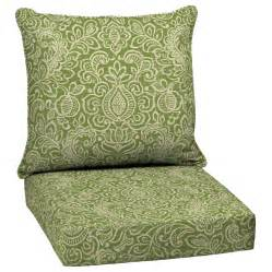 shop garden treasures green stencil seat patio chair cushion at lowes