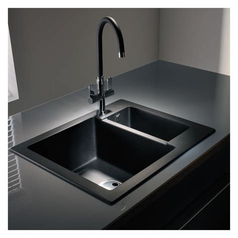 abode zero 1 5 bowl granite sink without drainer sinks