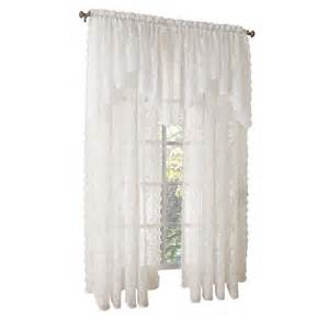 lichtenberg ivory alison lace curtain swag 58 in w x 32