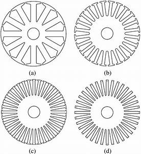 Four Typical Stator Configurations   A  12 Stator Slots
