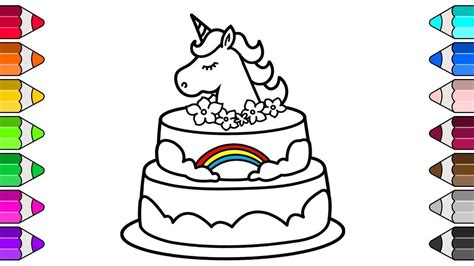 unicorn cake coloring pages coloring coloringsws