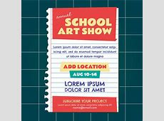 School Art Show Invitation Download Free Vector Art