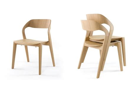 design wood chair stackable minimalist for hotel