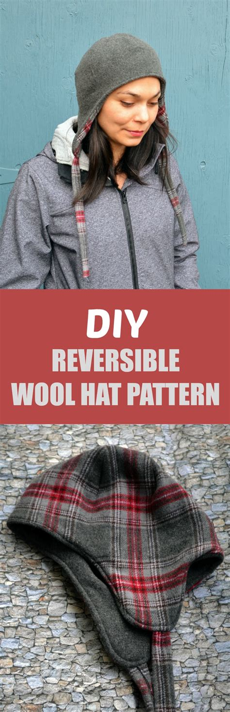 Diy Reversible Wool Hat Pattern  On The Cutting Floor