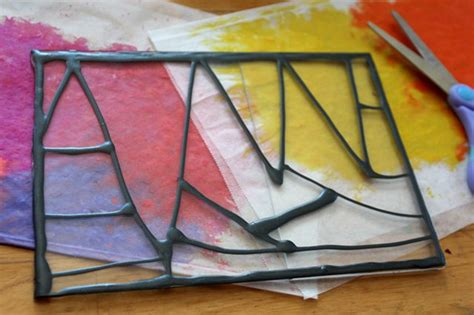 how to make a stained glass l how to make crayon stained glass windows ehow