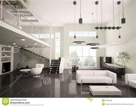 interior kitchen decoration modern apartment interior 3d render stock illustration