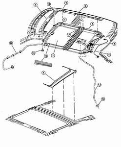 Chrysler 300 Seal  Sunroof Glass  Trim   All Trim Codes