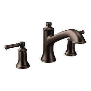 moen dartmoor 8 in widespread 2 handle roman tub bathroom