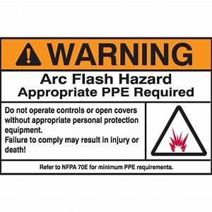 hazard warning labels warning arc flash hazard With arc flash warning stickers