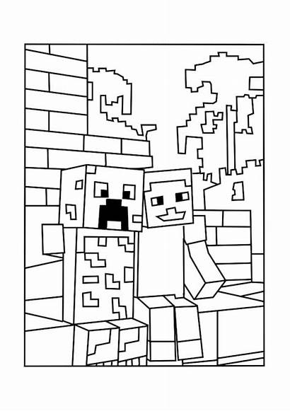 Minecraft Coloring Wolf Pages Horse Printable Sheets