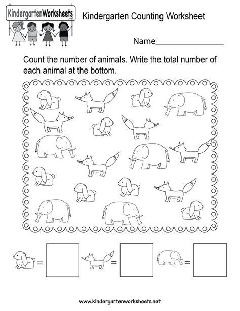 Kindergarten Counting Worksheet  Free Kindergarten Math Worksheet For Kids