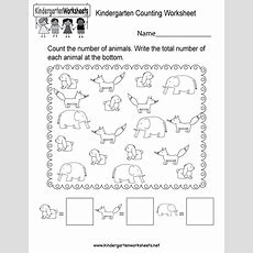 Kindergarten Counting Worksheet  Free Kindergarten Math Worksheet For Kids
