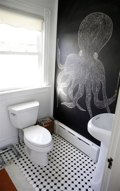 unconventional chalkboard bathroom decor ideas digsdigs