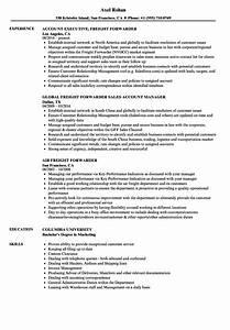 freight forwarder resume samples velvet jobs With resume for freight forwarding company