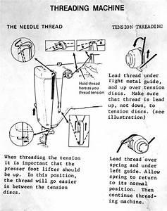 Threading Dressmaker 300z Sewing Machine