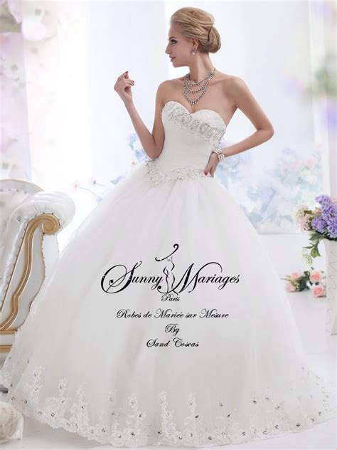 robe de mariée bustier strass robe de mariee princesse sur mesure et pas cher