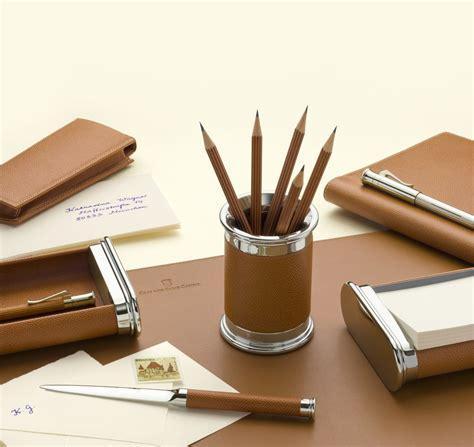 set de bureau cuir gvfc set d 39 accessoires de bureau cuir epsom grainé