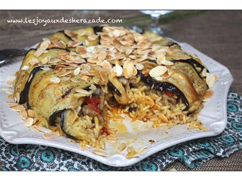 recette de cuisine viande el maklouba aux aubergines المقلوبة بالباذنجان les