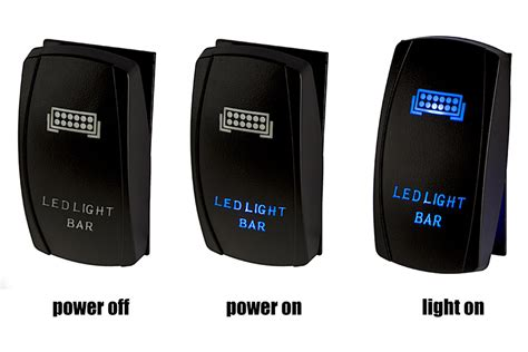 Weatherproof Led Rocker Switch Zombie Lights