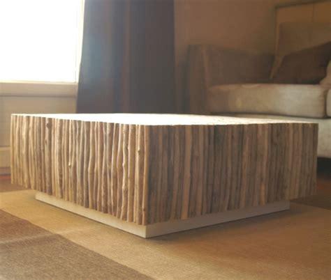 table basse bois flotte design table basse carr 233 e bois flott 233 table basse design