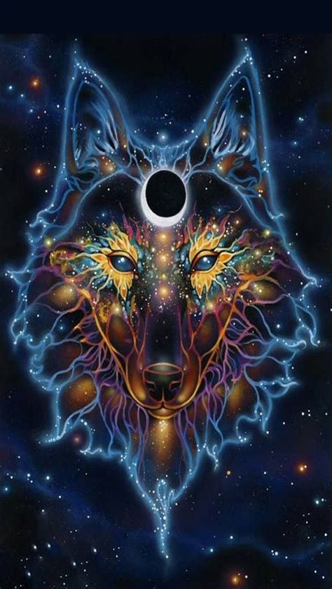 The great collection of galaxy wolf wallpaper for desktop, laptop and mobiles. Galaxy Wolf Wallpaper (69+ images)