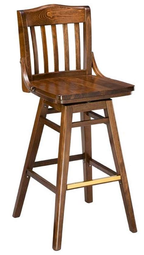 Wooden Bar Chairs With Backs by Wood Bar Stool With Swivel