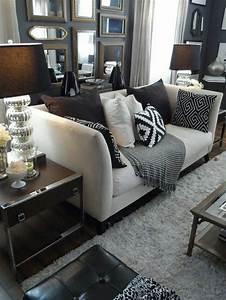 salon cocooning tapis beige canape beige avec coussins With tapis exterieur avec canape turner