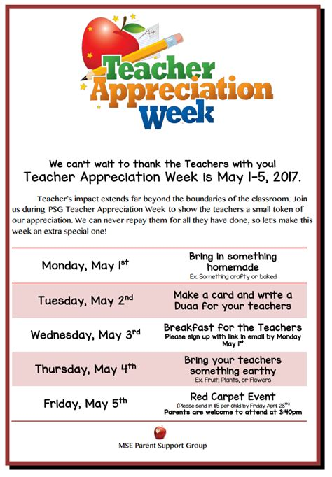 Teacher Appreciation Week Flyer