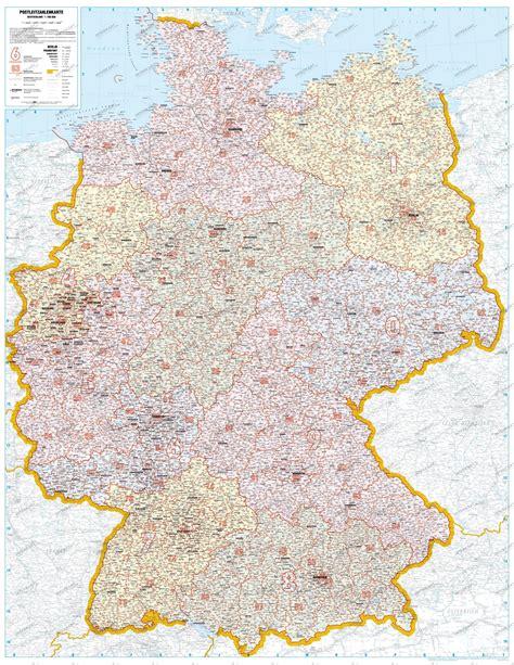 Alte Postleitzahlen Karte