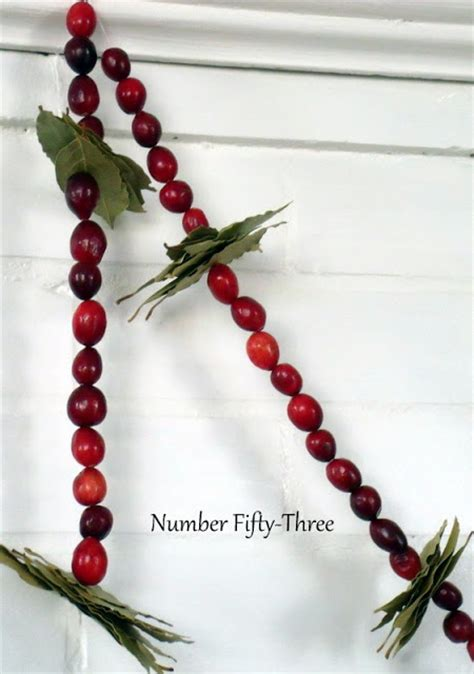 cranberry garland number fifty three diy cranberry bay leaf garland