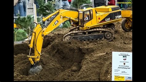 Harga Rc Excavator Cat rc excavator caterpillar 375me at work amazing and