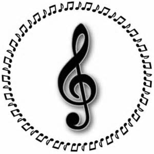 Music Notes Treble Clef Design
