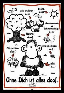 Poster Aufhängen Ohne Rahmen : sheepworld ohne dich ist alles doof poster druck rahmen kunststoff mdf alu ebay ~ Bigdaddyawards.com Haus und Dekorationen