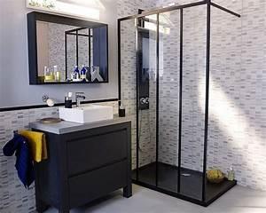 castorama meuble de salle de bains harmon style With meuble industriel salle de bain