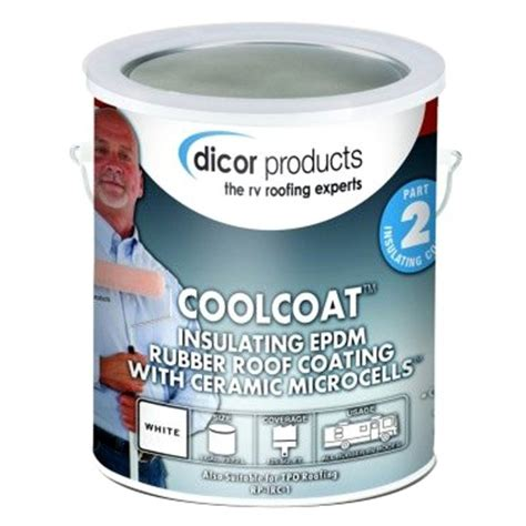 Dicor® RP-IRC-1 - Coolcoat Insulating Edpm White Roof Coating 1 Gallon - CAMPERiD.com