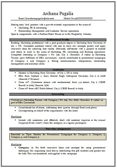 curriculum vitae word document over 10000 cv and resume sles with free download resume for mba fresher in marketing