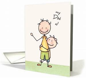 Father Birthday Card From Son, Best Friend- Cute Stick ...