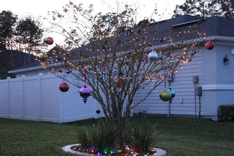 holiday decorating with oversized christmas ornaments
