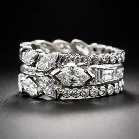 fancy wide diamond wedding band
