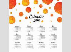 Aquarel jaarkalender 2018 Vector Gratis Download