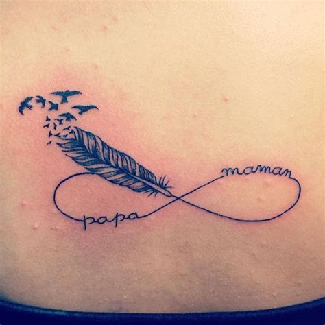 idee tatouage infini plume   ange tatouage
