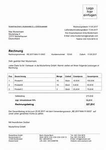 Rechnung Bei Versicherung Einreichen Vorlage : rechnungsvorlage kostenlos word excel pdf musterrechnung 1 1 ~ Themetempest.com Abrechnung