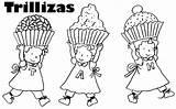 Triplets Mellizas sketch template