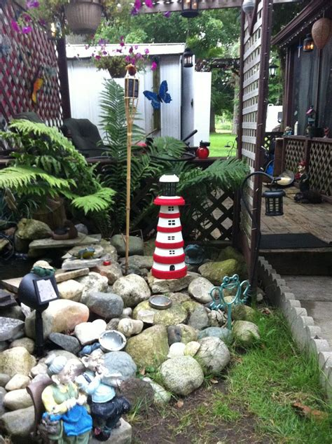 Garden Decoration Pots by Clay Pot Lighthouse At Our Trailer Pond Outdoor Idea