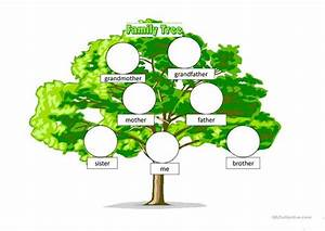 Family Tree Posters To Fill In Beginners Family Tree English Esl Powerpoints For