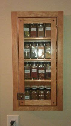 Recessed Spice Rack by Recessed Spice Cabinet With Glass Door Search