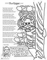 Coloring Tyger Blake William Poem Pages Poems Calvin Hobbes Teaching English Tools Tweetspeakpoetry Topics Comments sketch template