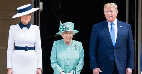 trump queen elizabeth melania donald 80s looks london visit ivanka always state ii president why dynasty special britain gifts vox