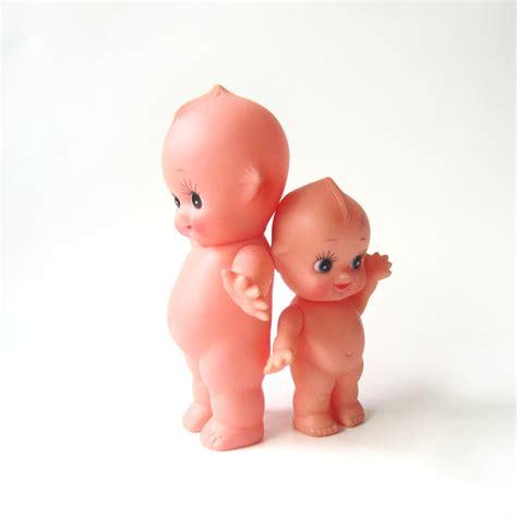two plastic kewpie dolls by simplychi on etsy
